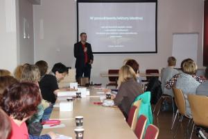 Wystąpienie Marcina Skrabki na szkoleniu
