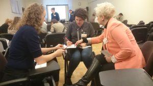 Praca w grupach podczas spotkania