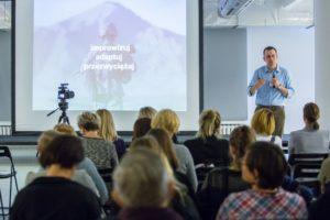 Wykład Marcina Skrabki podczas spotkania Kreatywna Europa