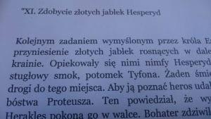 """Fragment książki """"Zdobycie złotych jabłek Hesperyd"""""""