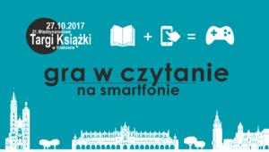 gra w czytanie na smartfonie na targach książki w Krakowie
