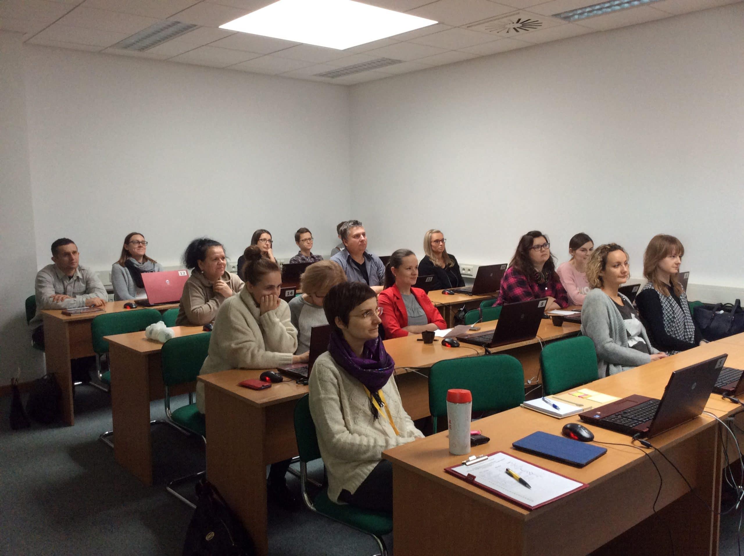 Uczestnicy szkolenia z gamifikacji na Podlasiu