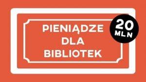 Baner dotacji dla bibliotek 2018