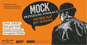 Grywalizacja literatury - plakaty gry terenowej MOCK