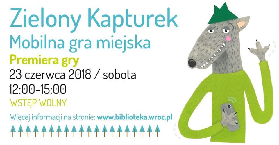 Plakat gry miejskiej Zielony Kapturek