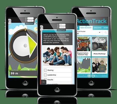 Telefony z aplikacją ActionTrack