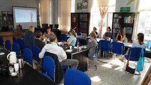 Bibliotekarze na szkoleniu Budowanie strategii biblioteki