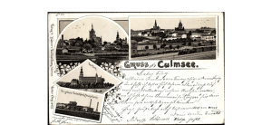 Stara czarno-biała pocztówka