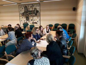 Uczestnicy szkolenia dla bibliotekarzy w Kielcach