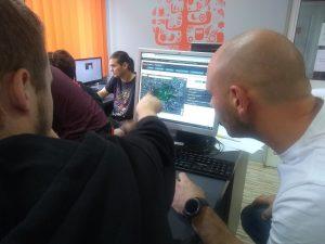 Praca w szkole przy projektowaniu gry