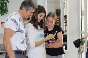 Dzieci testują grę podczas szkolenia w Ustce