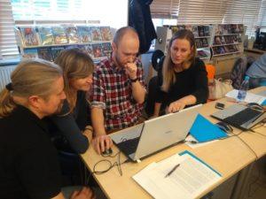 Współpraca podczas szkolenia Gamifikacja w pracy bibliotekarza
