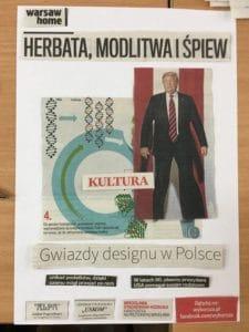 Plakat kolaż Gwiazdy designu w Polsce
