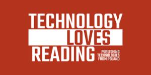 Czerwony logotyp Technology Loves Reading