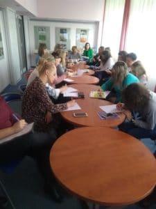 Szkolenie młodzież w bibliotece - Krosno