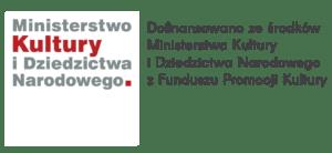 Logotyp dofinansowano z MKiDN