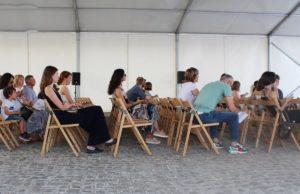 Uczestnicy szkolenia na targach książek Book Space na Ukrainie