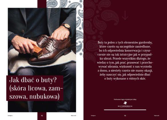 Artykuł z gazety Jak dbać o buty