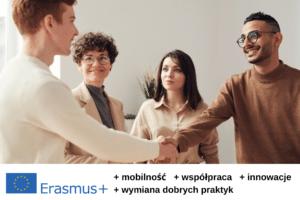 Baner reklamowy projektu Erasmus +