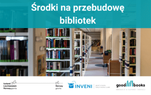 Baner artykułu o środkach na przebudowę bibliotek