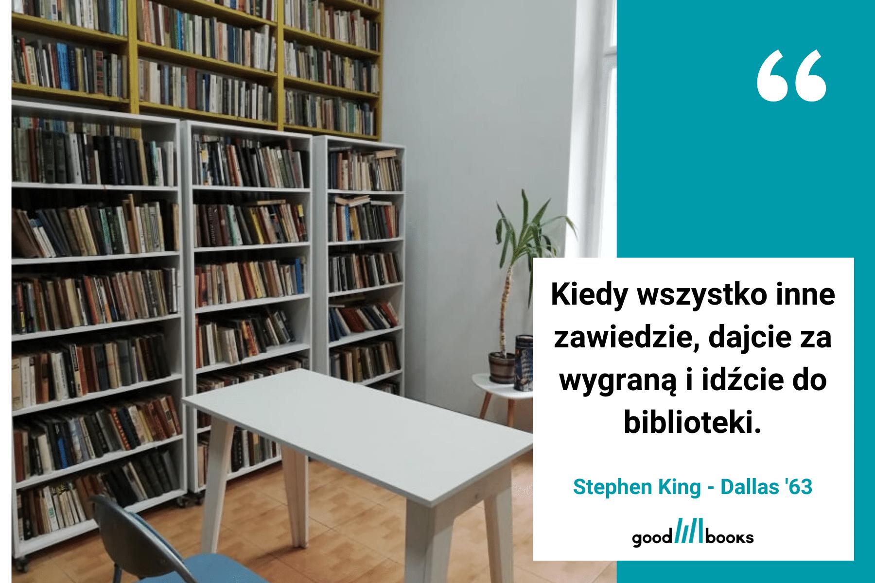 Cytat o bibliotece Goodbooksowe memy.