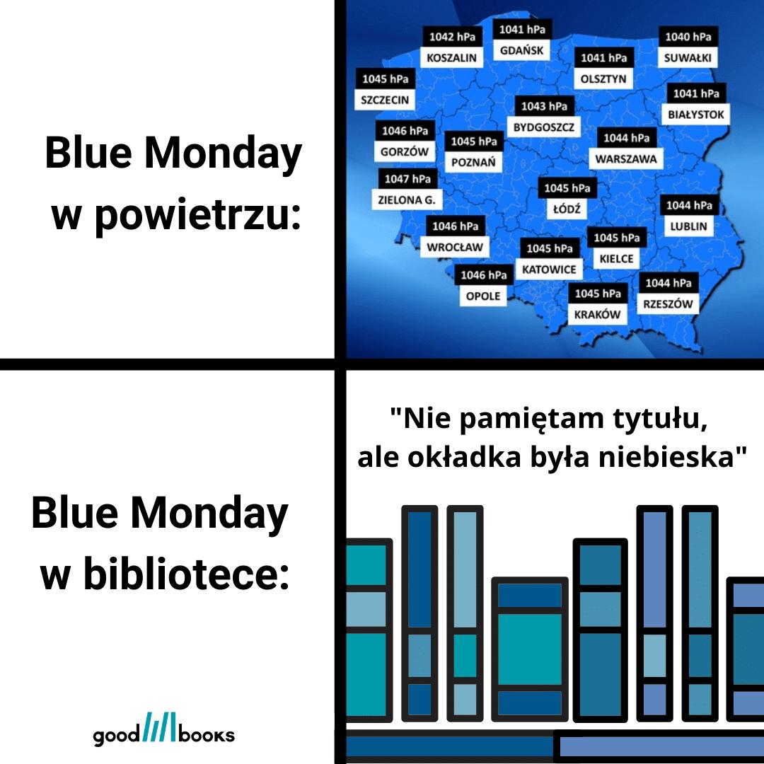 Blue Monday w bibliotece Goodbooksowe memy.