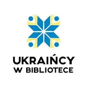 Małe logo Ukraińcy w bibliotece