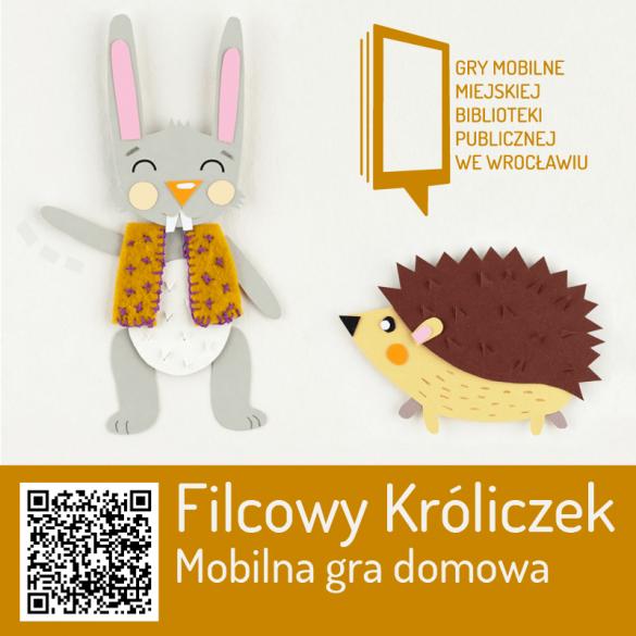 Plakat gry mobilnej ActionTrack Filcowy Króliczek