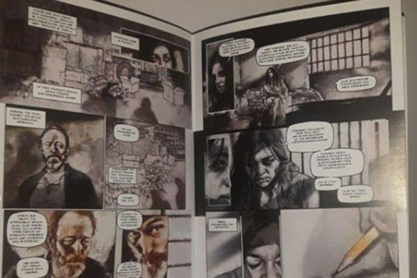 Przykład czarno-białego komiksu