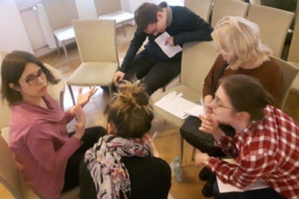 Praca grupowa na szkoleniu Komiks w instytucji kultury i szkole