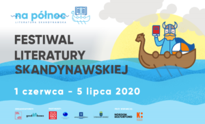 Plakat Festiwalu Literatury Skandynawskiej