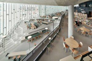 Biblioteka w Oslo - wnętrze