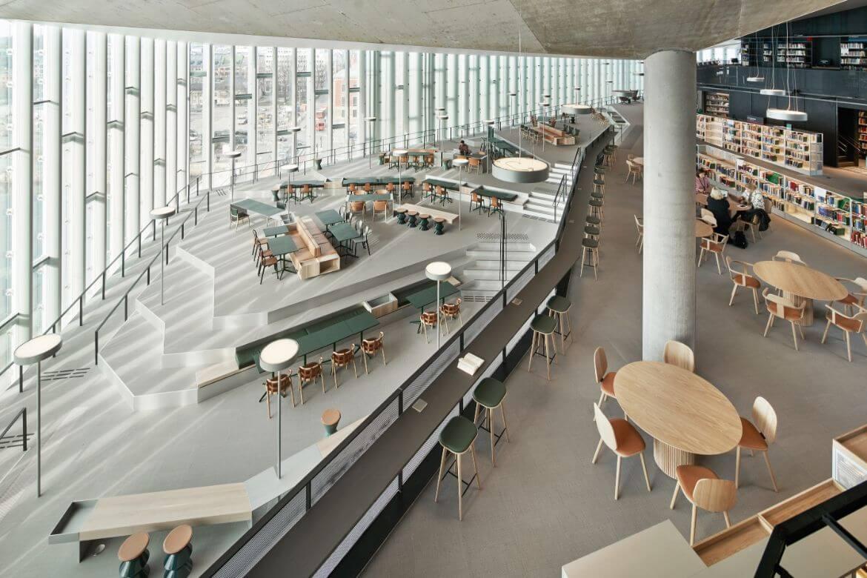 biblioteka przyszłości wnętrze
