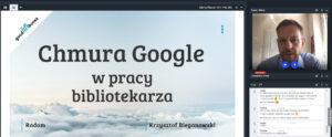 Webinarium dla bibliotekarzy Chmura Google w pracy bibliotekarza