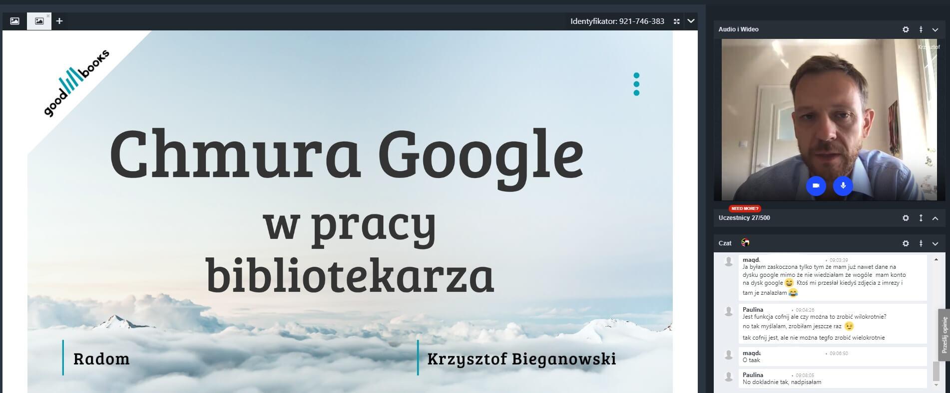 warsztaty dla bibliotekarzy Chmura Google w pracy bibliotekarza