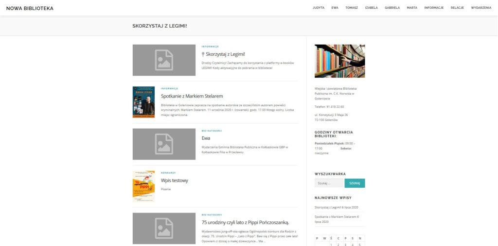 Strona stworzona podczas szkolenia