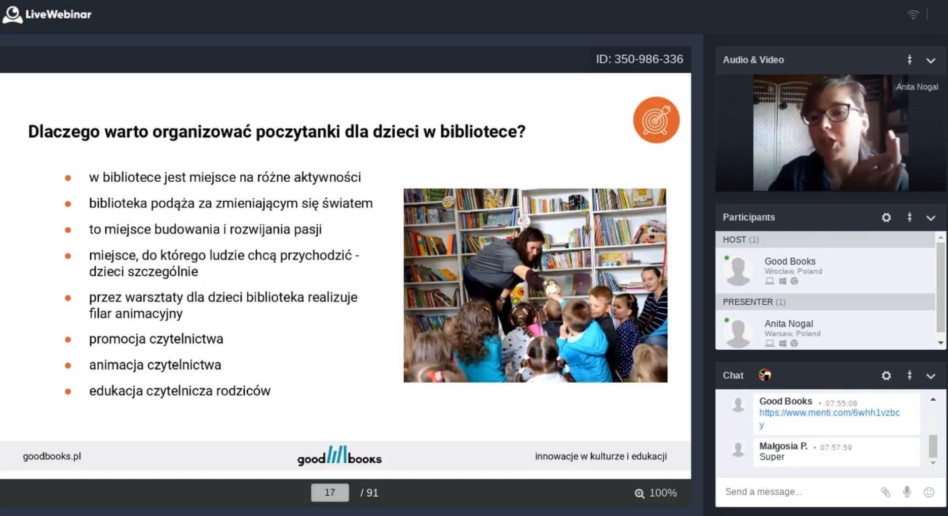 animacja cytelnictwa - szkolenie dla bibliotekarzy