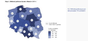 liczba bibliotek publicznych w Polsce 2019