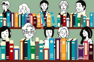 pokolenie millenialsów i pokolenie z w bibliotece