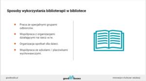 szkolenie dla bibliotekarzy biblioterapia