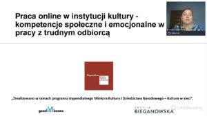 Praca online w instytucji kultury szkolenia dla bibliotekarzy