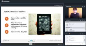 Screen ze szkolenia ze zdjęciem e-booka