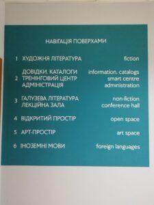 Informacje dla obcokrajowców w bibliotece w Dnieprze