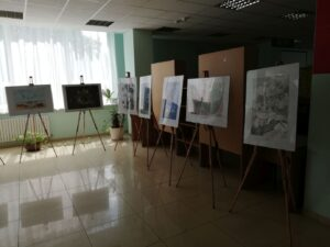 Wystawa w bibliotece w Dnieprze
