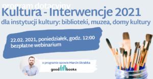 Webinarium o programie Kultura - Interwencje