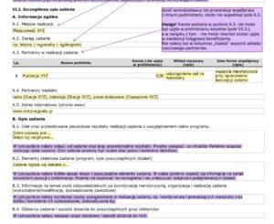 Informacje zawarte we wniosku wzorcowym programu Kultura-Interwencje