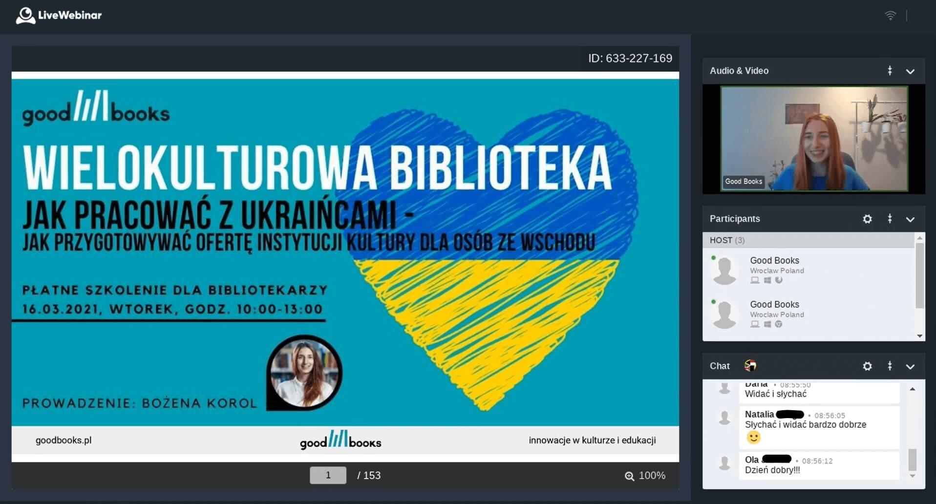 Wielokulturowa biblioteka - szkolenie online www