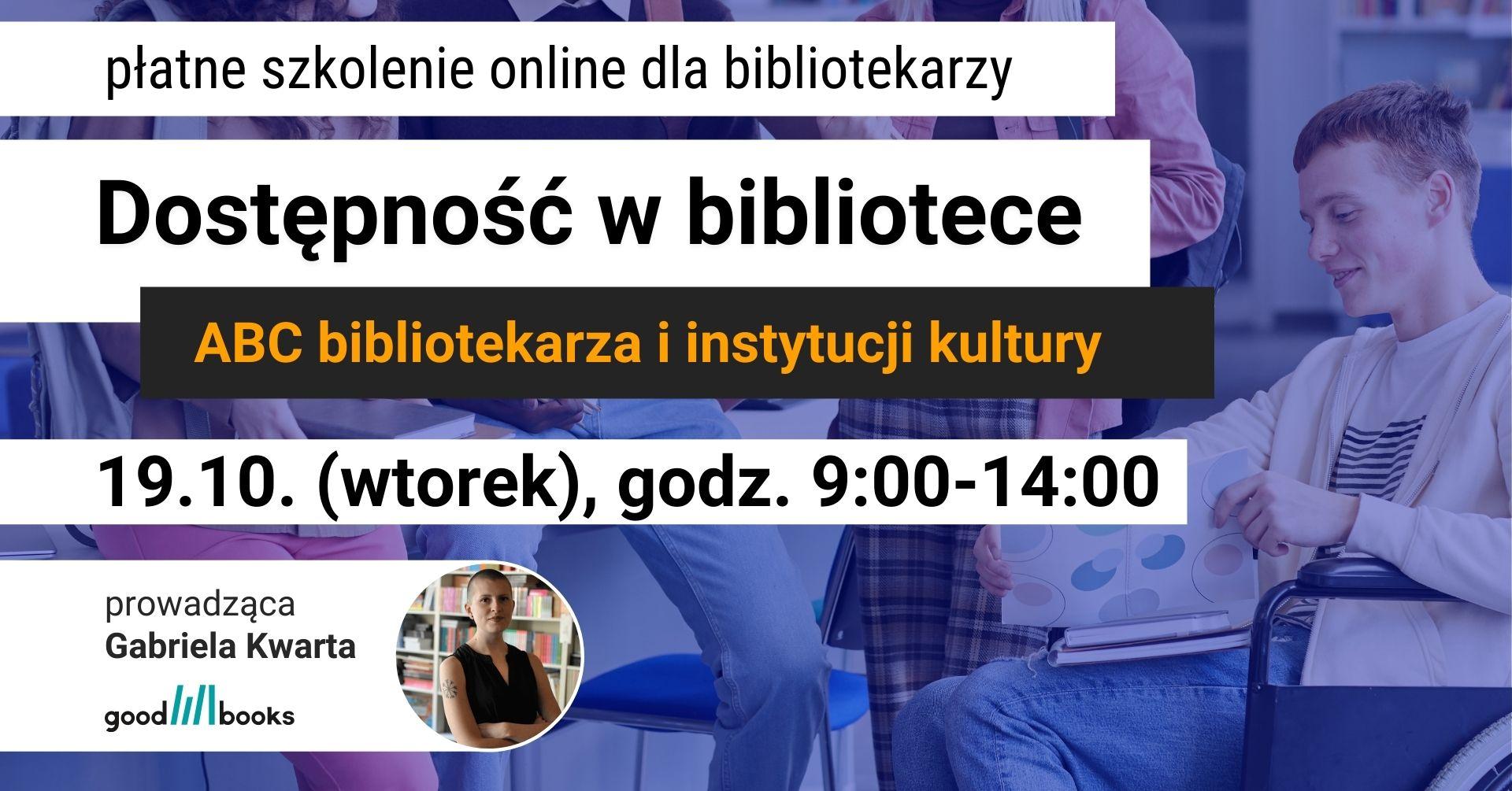 Baner: szkolenie Dostępność w bibliotece