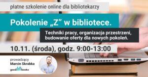 Baner: szkolenie Pokolenie Z w bibliotece