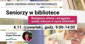 Baner: szkolenie Seniorzy w bibliotece